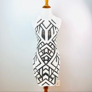 Express White Deco Sequined Dress
